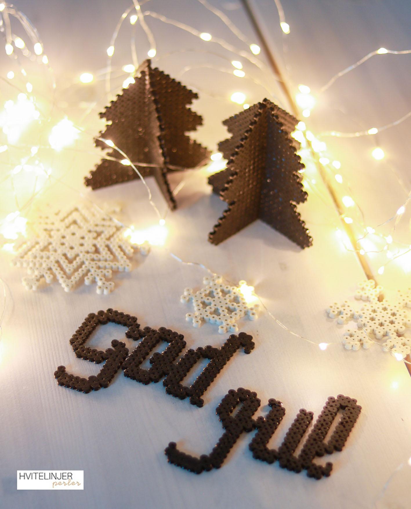 "Juletre & ""God jul"" - Perlemotiv"