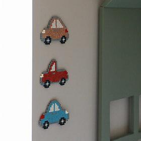 Tre tøffe biler - Perlemotiv