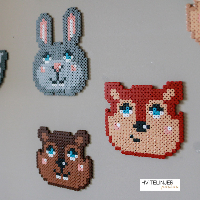 Nordiske dyr (Hare, Rev og Ekorn) - Perlemotiv
