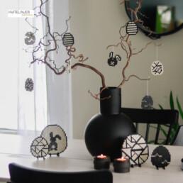 Dekorative påskeegg - Perlemotiv