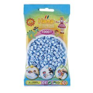 Hama Midi Perler - Pastel Ice Blue (1000 stk)